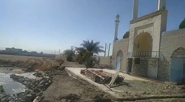 تخریب فنداسیون مصلای اهلسنت ایرانشهر